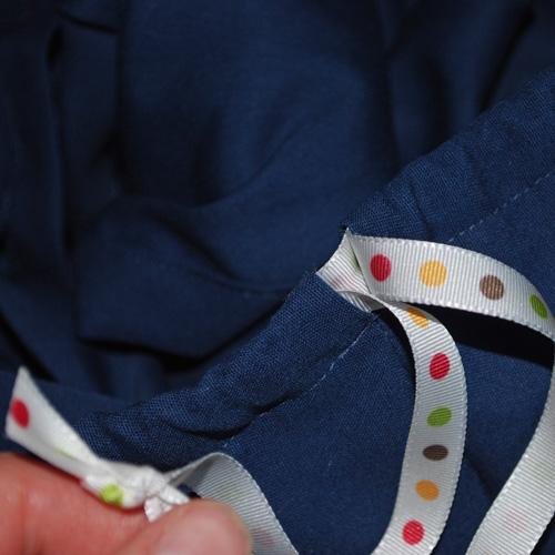 Crumb Catcher - insert the ribbons