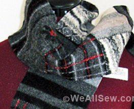 DIY Upcycled Wool Scarf