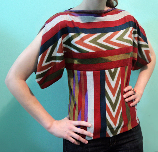 shirt made of rectangles
