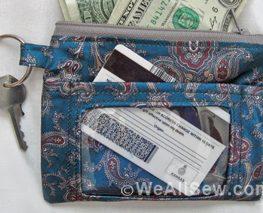 DIY Recyled Ties ID Case