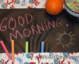 DIY Chalkboard Placemat