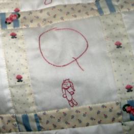 Jenny's Quilt -- Q block