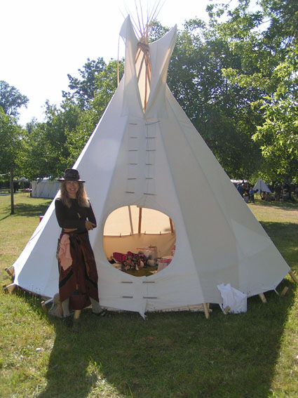 how to make a tipi tent for rabbit