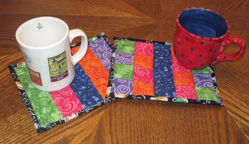 Patchwork Mug Rug #1 and #2