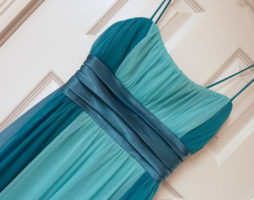 satin and chiffon dress