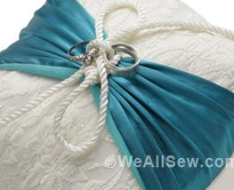DIY Upcycled Ring Bearer's Pillow