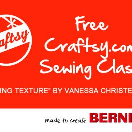 Free Craftsy Class from BERNINA
