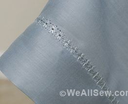 How to Make an Heirloom Linen Table Topper - WeAllSew