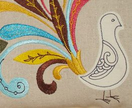 """""""Kissing Pillows"""" by Jeanne Delpit #diy #embroidery"""