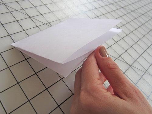 fold paper in quarters