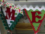 Merry Christmas Banner by Glenda Hulet #sew #diy