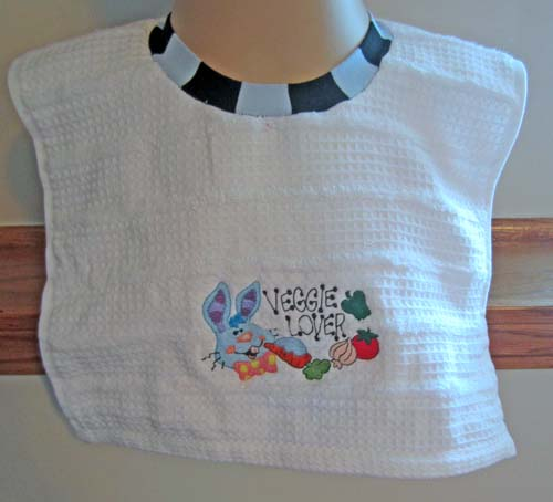 diy towel bib with embroidery