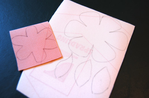 trace flower shapes