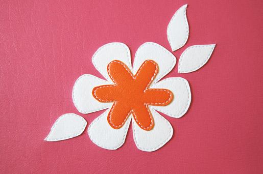 completed applque flower