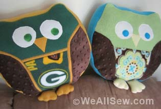 WeAllSew.com Snuggly Owl Pinterest Party Winner Sara Falter #sew #diy