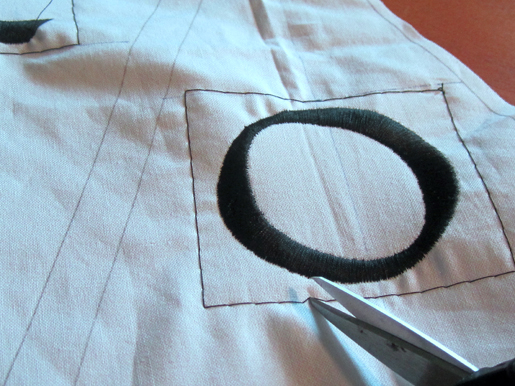 trim basting stitches