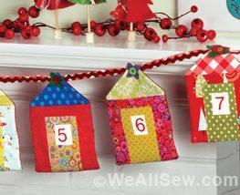Pocket Advent Calendar Banner by Jen Buffington, Stitched, Williston VT, www.stitchedtv.com #sew #diy #weallsew.com #holiday #banner