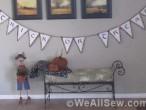 Trick-or-Treat Banner by Miriam Rawson, Fabric Folks, at www.WeAllSew.com #sew #diy #halloween
