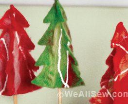 How to needle felt trees