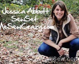 Jessica Abbott - guest blogger - MeSewCrazy and SewSet #sew #diy #weallsew.com