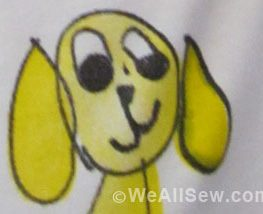 Dog Rescue T-shirt by Riley with help from Debbi Lashbrook #sew #diy #weallsew.com
