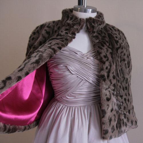 DIY Lined Faux Fur Capelet