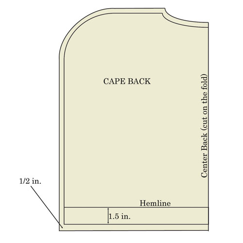 capelet back diagram