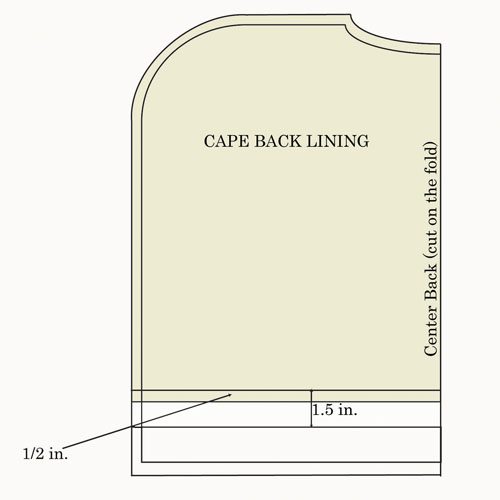 capelet back lining diagram