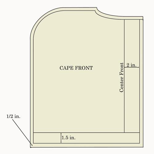 capelet front diagram