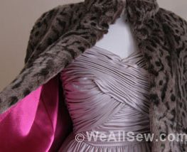 DIY Lined Faux Fur Capelet