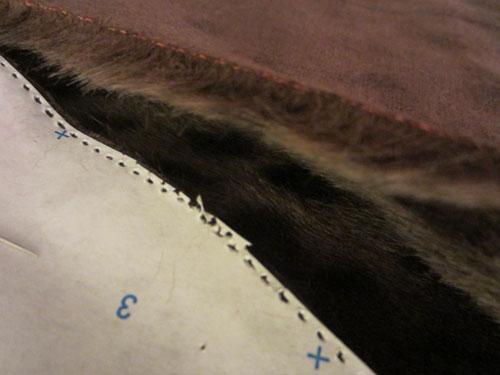 cut the faux fur
