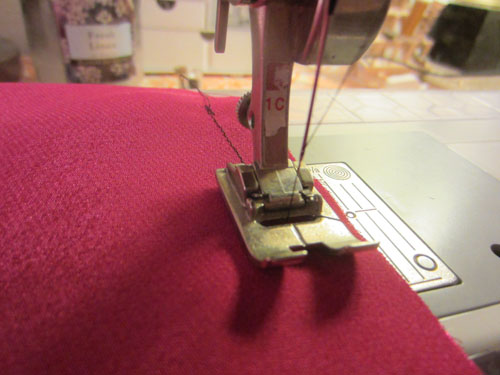 sew lining front to lining back