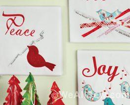 Peace, Love, and Joy Chirpy Birds by Gayle Schliemann #diy #sew #WeAllSew.com