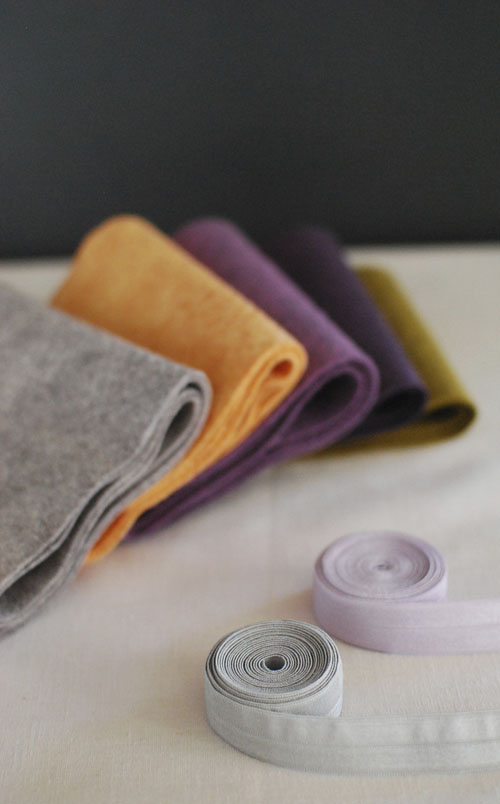 supplies - felt, elastic