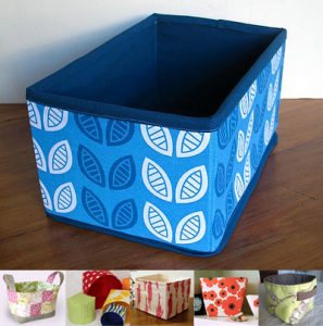 Bins and baskets ... & Organize Your Sewing Space for the New Year! | WeAllSew