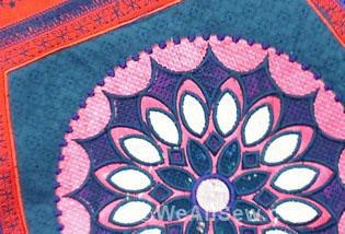Mandala Backpack by Genette McKnight #sew #embroider #diy #weallsew.com