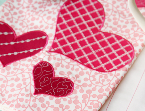 DIY Be My Valentine Kitchen Towels