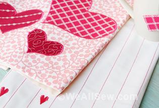 DIY Be My Valentine Kitchen Towels