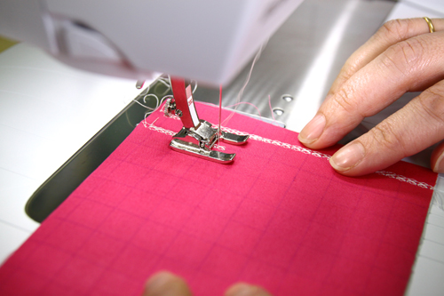using bernina edge stitch foot to applique