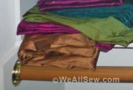 Clever fabric storage tip from Kaysie Oldani #sew #diy #organization #weallsew