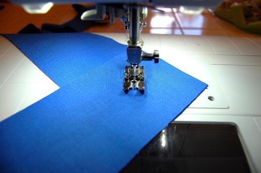 stitch diagonally