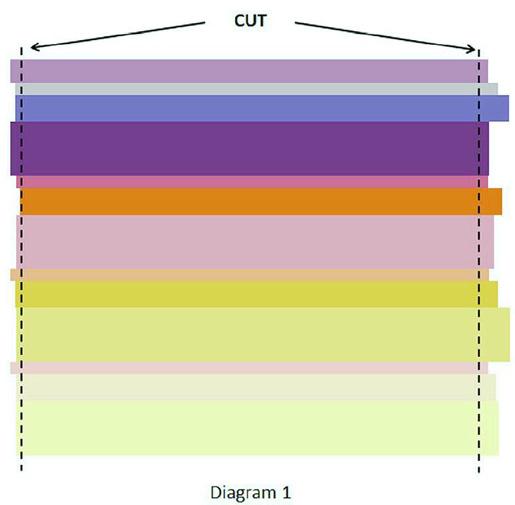 Sunrise Baby Quilt - Week 1 - Diagram 1