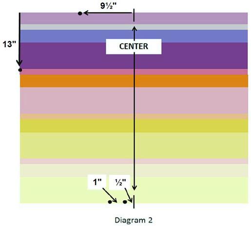 Sunrise Baby Quilt - Week 1 - Diagram 2