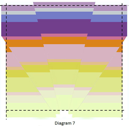 Sunrise Baby Quilt - Week 1 - Diagram 7