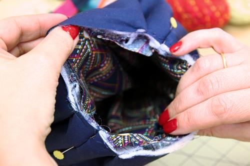 Artsy Purse - assemble the bag