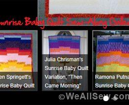 Sunrise Baby Quilt Sew-Along Contest - #sunrise baby quilt #sew #quilt #contest #gallery