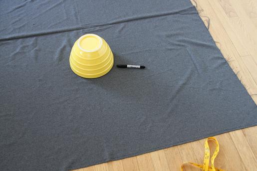 circle skirt tracing