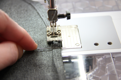 use pin to hold fabric