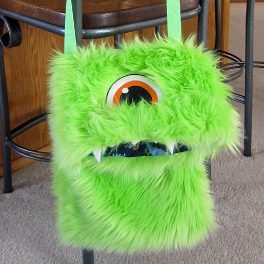 DIY Fuzzy Monster Bag