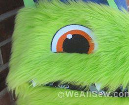 DIY Fuzzy Monster Bag